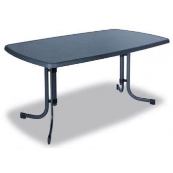 Zahradní rozkládací kovový stůl obdélníkový, vrchní deska sevelit