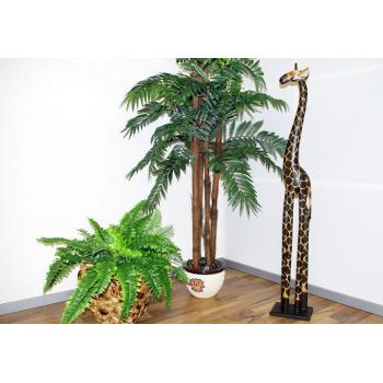 Ručně vyřezávaná soška žirafy vysoká 120 cm