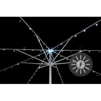 Solární osvětlení pod slunečník z LED diod, blikající funkce
