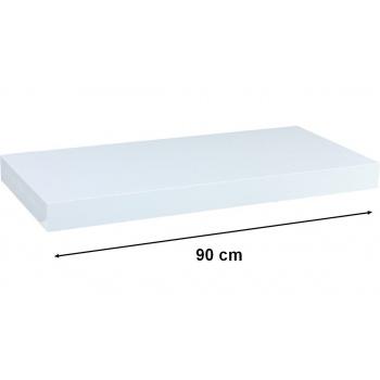 Nástěnná polička s levitujícím efektem bílá, 90 cm