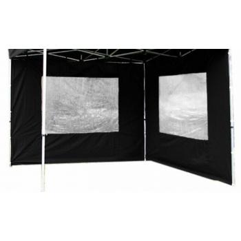 2 boční stěny s okny pro Profi zahradní stany, černá