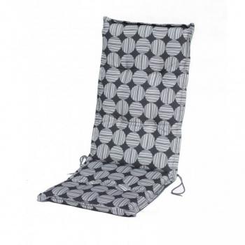 Polstrování na zahradní židli s vysokým opěradlem, kruhy