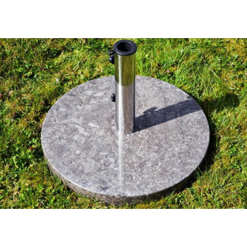 Kruhový mramorový stojan na slunečník do 3 m, 25 kg