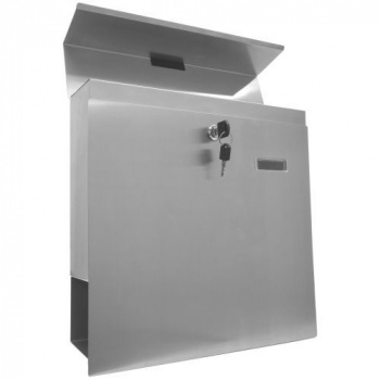 Hranatá poštovní schránka na zeď z nerezové oceli V2A