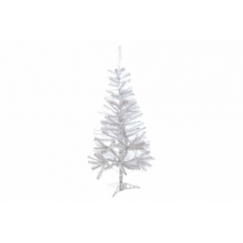 Umělý bílý vánoční strom se stojánkem, skládací, 1,2 m