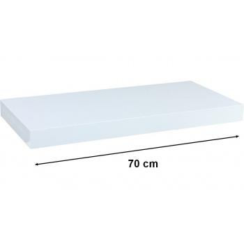 Nástěnná polička s levitujícím efektem bílá, 70 cm