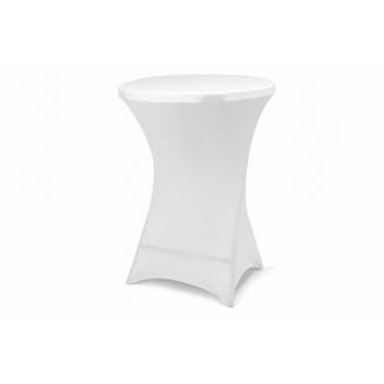 Napínací potah na vysoké kulaté stoly 80x80x110 cm, bílý
