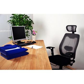Kancelářská otočná židle s opěrkou hlavy a prodyšným polstrováním