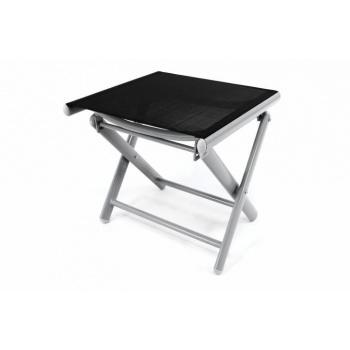 Menší kovová zahradní stolička skládací, textilní potah