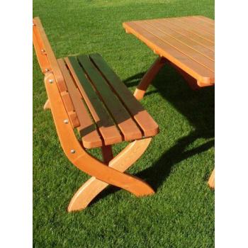 Zahradní dřěvěná lavice z masivu 180 cm, lakovaná