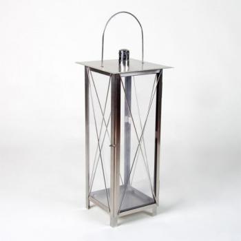 Zahradní okrasná lucerna na svíčku 65 cm, ušlechtilá ocel