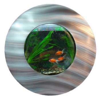 Kulaté designové nástěnné akvárium 56x18,7 cm