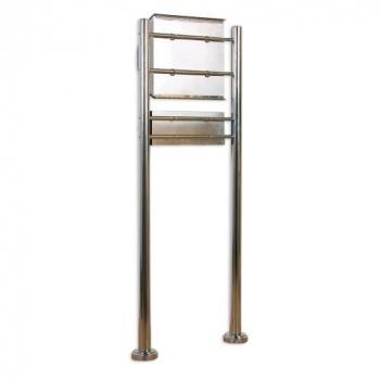 Nerezová poštovní schránka pro domy / firmy, na stojanu, 144 cm