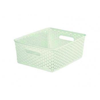 Plastový košík pro uložení drobných předmětů, krémový