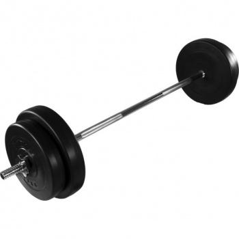 Velká obouruční činka, rovná tyč, betonové kotouče, 30 kg