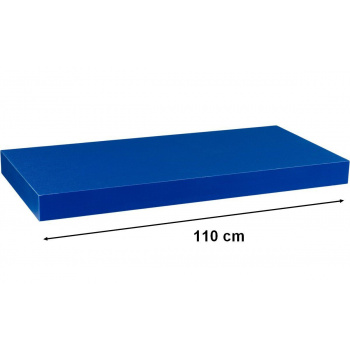 Nástěnná polička s levitujícím efektem modrá, 110 cm
