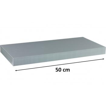 Nástěnná polička s levitujícím efektem stříbrná, 50 cm