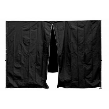 2 boční stěny pro zahradní párty stany, jedna se zipem, černá