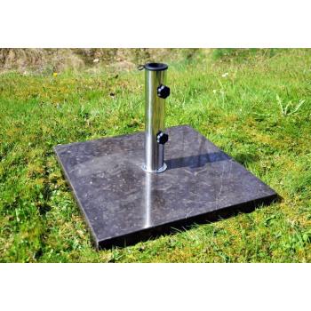 Čtvercový stojan pro slunečníky do 3 m, leštěný mramor, 25 kg