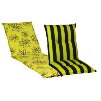 Polstr na lehátko, oboustranný, žlutá / černá