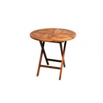 Menší kulatý zahradní stolek, týkové dřevo, Ø 80 cm