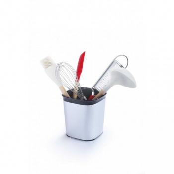 Moderní odkapávač na příbory / kuchyňské náčiní, černá / stříbrná