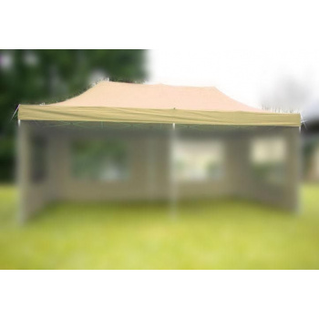 Samostatná střecha k zahradním párty stanům 3x6 m, champagne