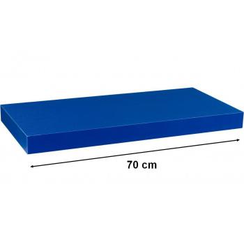 Nástěnná polička s levitujícím efektem modrá, 70 cm