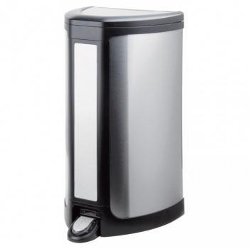 Odpadkový koš s čidlem - bezdotykové otevírání, broušený nerez