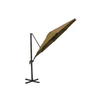 Slunečník s boční konstrukcí 3,25 m, nastavitelný úhel sklonu, béžový