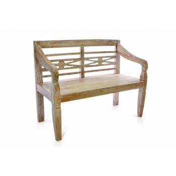 Okrasná lavice z masivu, týkové dřevo, 2-místná