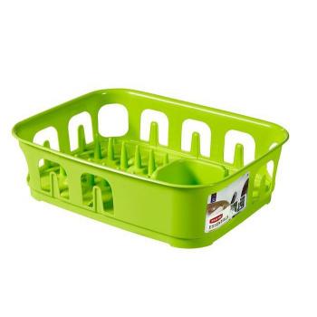 Kuchyňský odkapávač na nádobí obdélníkový, zářivě zelený