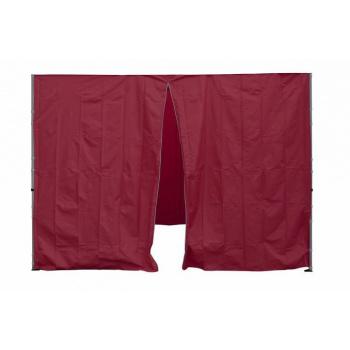 2 boční stěny pro zahradní párty stany Profi, jedna se zipem, fialová