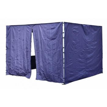 2 boční stěny pro zahradní párty stany Profi, jedna se zipem, modrá