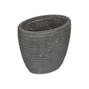 Dekorativní plastový květináč / obal na květináč, šedivý, 29 cm