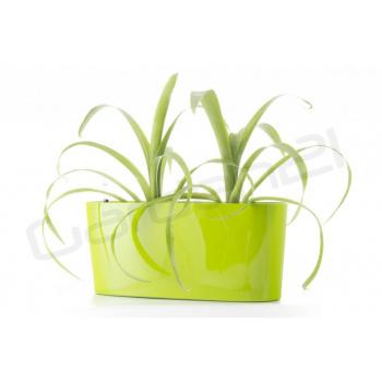 Okrasný truhlík / květináč venkovní i vnitřní, samozavlažovací, 40 cm, zelený