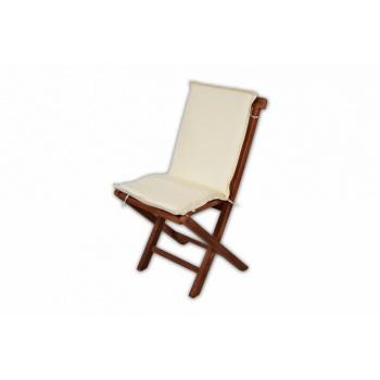 Polstrování na zahradní židle, snímatelný - pratelný potah, krémové