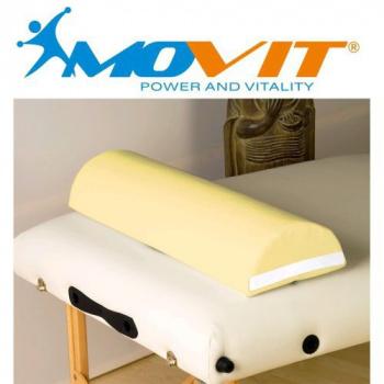 Půlkulatý polštářek s masážnímu stolu, krémový