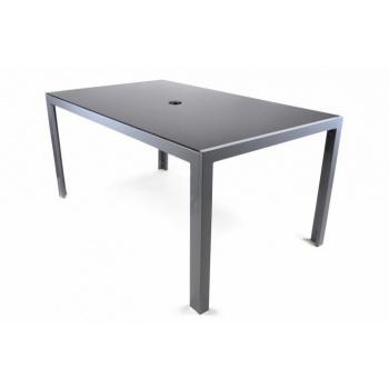 Elegantní skleněný venkovní stůl s hliníkovým rámem 150 cm