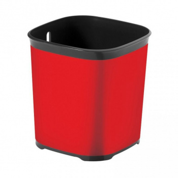 Moderní odkapávač na příbory, červená / tmavě šedá