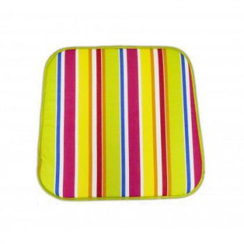 Polstr na židli / křeslo, barevné pruhy