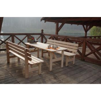 Dřevěný obdélníkový stůl z masivu 200 cm, nelakovaná borovice
