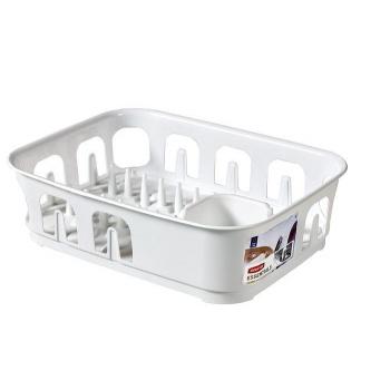 Kuchyňský odkapávač na nádobí obdélníkový, plast, bílý