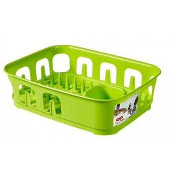 Kuchyňský odkapávač na nádobí obdélníkový, plast, zářivě zelený