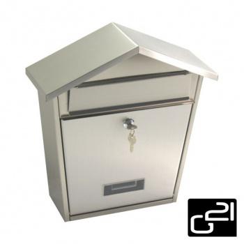 Nástěnná poštovní schránka stříbrná, 320x380x105 cm