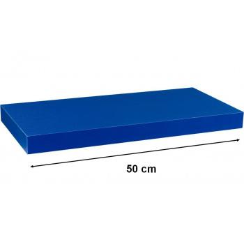 Nástěnná polička s levitujícím efektem modrá, 50 cm