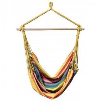 Závěsná houpačka textilní, barevná, nosnost 100 kg