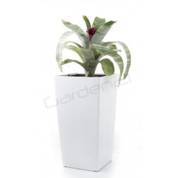 Vysoký okrasný samozavlažovací květináč 55 cm, interiér / exteriér, bílý