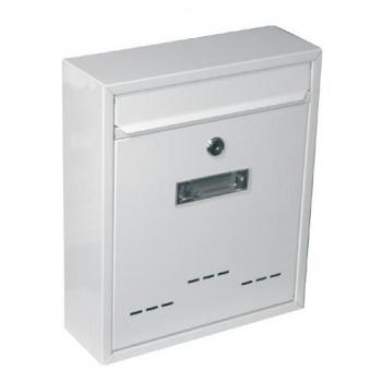 Menší nástěnná poštovní schránka 31x26x9 cm, 2 klíče, bílá