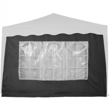 Boční stěna s oknem k zahradním párty stanům, antracit